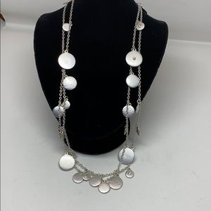 Jewelry - SALE! Brushed silver tone necklace
